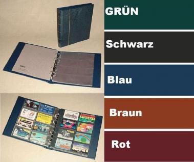 "KOBRA G29 Blau Telefonkartenalbum Visitenkartenalbum "" XL "" mit 10 Blättern G28E Für 80 Telefonkarten Visitenkarten"