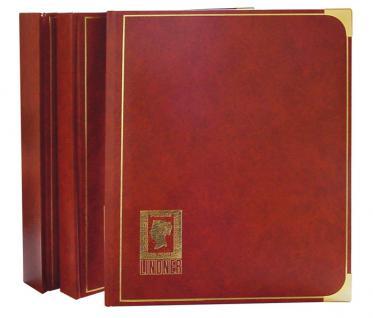 Lindner 1150 - H Briefmarkenalbum Einsteckbücher Einsteckbuch Royal Hell Braun 24 schwarze Seiten - Vorschau 1