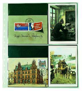 10 x SAFE 7751 Einsteckblätter Spezialblätter Favorit 3 quer & 2 senkrecht Für 10 neue Postkarten - Ansichtskarten - Banknoten - Geldscheine Papiergeld