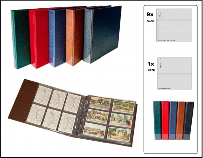 KOBRA G40 Grün Liebigbilder Album Sammelalbum Ringbinder + 10 Hüllen G46E / G47E Für bis zu 120 Sammelbilder Reklamebilder Liebigbilder