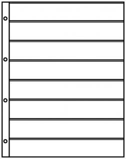 10 x LINDNER 4108 Einsteckhüllen Ergänzungsblätter Publica L A4 8 Taschen / Streifen schwarz 33 x 220 mm Für Briefmarken - Vorschau 2