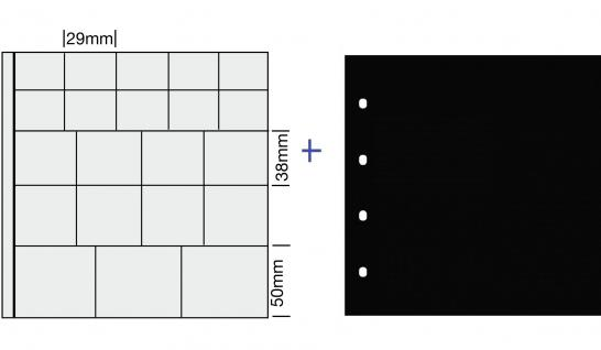 """1 x SAFE 838 COIN Combi Münzblätter Ergänzungsblätter """" MIX """" 29 / 38 / 50 mm"""