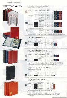 """Lindner 1167-R Briefmarken Einsteckbücher Einsteckbuch Einsteckalbum Einsteckalben Album """" Standard """" Weinrot Rot 64 geteilte weiße Seiten - Vorschau 3"""