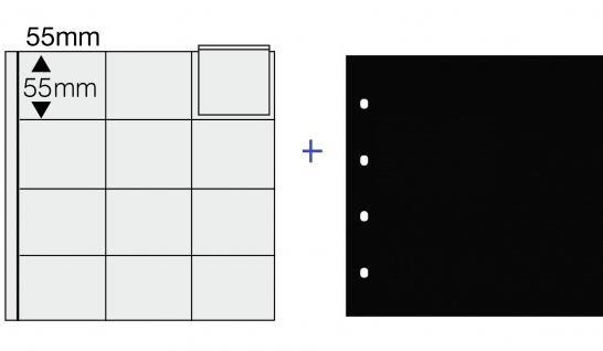 1 x SAFE 812 COIN Combi Münzblätter Ergänzungsblätter 12 x 50 x 55 mm Für 5 DM PP in Folie Blisterfolie