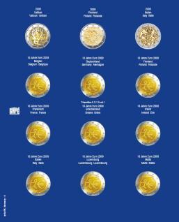 1 x SAFE 7302-5 TOPset Münzblätter Ergänzungsblätter Münzhüllen mit farbigem Vordruckblatt für 2 Euromünzen Gedenkmünzen in Münzkapseln 26 - 2008 - 2009