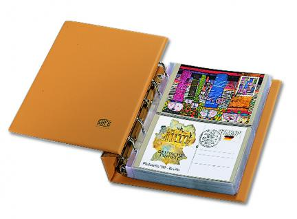 SAFE 7883 Luxus Skai Compact Postkartenalbum Banknotenalbum mit 20 Blättern 7873 erweiterbar bis 300 Postkarten Banknoten