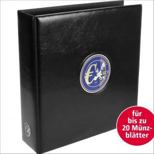 SAFE 7364 PREMIUM MAXI EURO KMS Kursmünzensätze MÜNZALBUM extra Breit (leer) für bis zu 25 Münzblätter mit Vordrucken für bis zu 100 KMS von 1 Cent - 2 Euromünzen