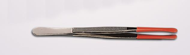 SAFE 1840 Münzenpinzette Münzpinzette vernickelt, gummiert u.abgerundet 12 cm lang