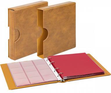 LINDNER 1106EK-W Münzalbum Karat CLASSIC Weinrot - Rot + Kassette + 10 x Münzhüllen MIX + 10 rote ZWL Zwischeneinlagen - Vorschau 3