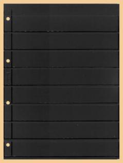 10 x KOBRA E28 Combi Einsteckblätter beidseitig schwarz 8 Streifen 30 x 200 mm Ideal für Briefmarken