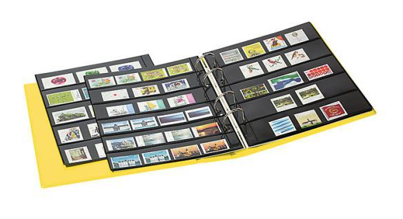 Lindner S3540b-1 Berry Multi Collect Ringbinder Publica M Color + Je 5 Blätter Mu1315 & Mu1316 Für Briefmarken - Vorschau 5