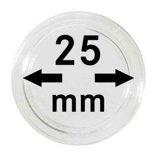 5 LINDNER Münzkapseln / Münzenkapseln Capsules Caps 25 mm 2250025P