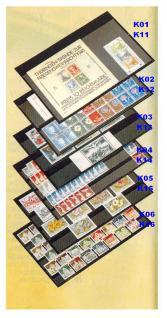 10 x A5 KOBRA K05 Extra starker Karton Einsteckkarten Steckkarten Schwarz Vorderseite versiegelt 210 x 147 mm mit 5 Streifen 202 x 18 mm - Vorschau 1