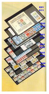 50 x A5 KOBRA K06 Extra starker Karton Einsteckkarten Steckkarten Schwarz Vorderseite versiegelt 210 x 147 mm mit 6 Streifen 202 x 16 mm - Vorschau 1