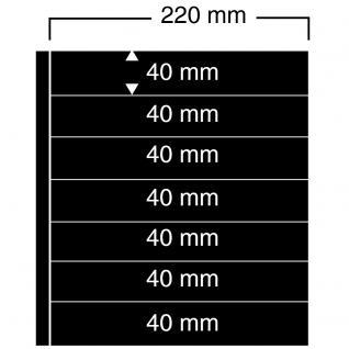 1 x SAFE 457 Einsteckblätter Compact A4 - 7 schwarze Taschen 220x40 mm Für Sammelobjekte Briefmarken