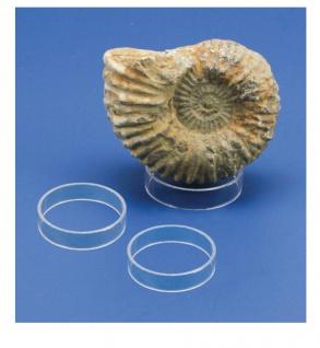 3 x SAFE 5156 Acryl Ringe Deko Präsentations Aufsteller S - Small Ringhöhe 15 mm Durchmesser 30 mm - Ideal für Mineralien - Fossilien - Achatkugeln - Opal Eier - Bernstein
