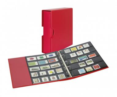 LINDNER S3542B-1 Berry - Rot Ringbinder PUBLICA M COLOR Multi Collect + Kassette & je 5 Blätter MU1315 & MU1316 Für Briefmarken & Blocks