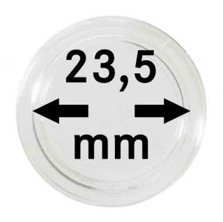 100 LINDNER Münzkapseln / Münzenkapseln Capsules Caps 23, 5 mm für 1 Euro 2