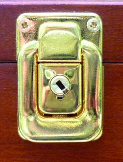 """SAFE 5927 Mahagonifarbende Holzvitrine """" MAXI """" 620 x 420 x 100 mm 4 Ebenen Für Porzellan & Sammeltassen & Glas - Vorschau 3"""