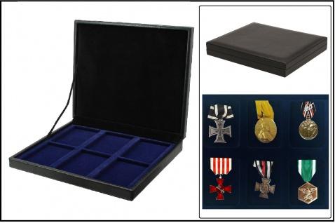 SAFE 63730 NOVA deluxe Sammelkassette schwarz 6 Fächer Für Militaria Orden Abzeichen Anstecknadeln