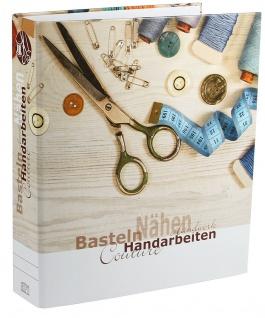 SAFE 4010 Dokumenten Ordner Familie Handarbeiten DIN A4 Ringbinder Für Bastelanleitungen - Strickmuster - Schnittbögen - Strickanleitungen - Vorschau 2