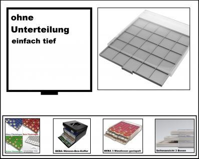SAFE 6601 BEBA MÜNZBOXEN Standard Grau 1 quadratischem Fach 280 x 283 mm ohne Unterteilung Ideal für große Münzen & Medaillen & Anstecker - Anstecknadeln - Pin 's