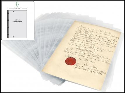 50 x SAFE 5482 A4 Ergänzungsblätter Sammelhüllen PP Folie 1 Tasche 297x211 mm Für Briefe Dokumente Zeugnisse Verträge