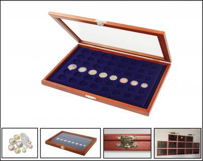 SAFE 5906 HOLZ MÜNZVITRINEN 6 x komplette EUROMÜNZEN Kursmünzensätze KMS von 1, 2, 5, 10, 20, 50 Cent 1, 2 Euro in Münzkapseln