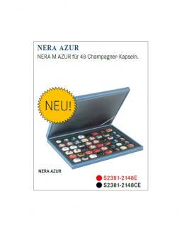LINDNER S2381-2148CE Nera M AUR Kassetten Carbo Schwarz 48 x 30 mm für 48 Champagnerdeckel & Champagnerkapseln