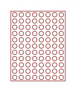 LINDNER 2910E Velourseinlagen Hellrot für Münzbox Münzboxen Kassetten Münzkoffer