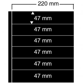 1 x SAFE 456 Einsteckblätter Compact A4 - 6 schwarze Taschen 220x47 mm Für Sammelobjekte Briefmarken