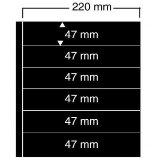 10 SAFE 456 Einsteckblätter Compact A4 - 6 schwarze Taschen 220x47 mm Für Sammelobjekte Briefmarken