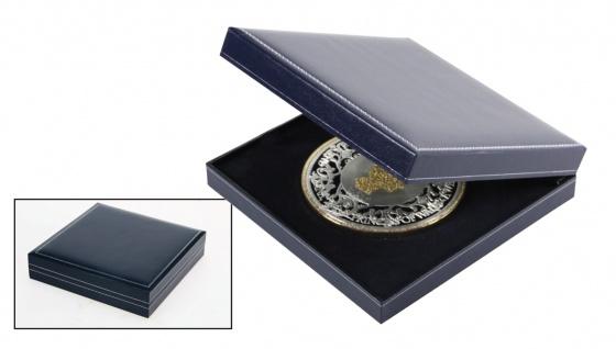 SAFE 7917 Dunkelblaues Münzetui mit Schmuckprägung 160 x 160 x 35 mm Für grosse Münzen und Medaillen