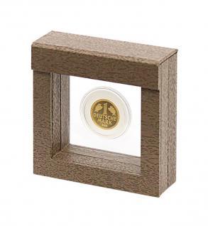 LINDNER 4870 NIMBUS 70 Holzdekor Braun Objektrahmen Schweberahmen 70 x 70 x 25 mm Münzen & Medaillen