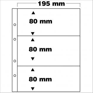 10 x SAFE 7399 PREMIUM Münzblätter Folder Banknotenhüllen 3C 3x ca. 80 x 195 mm Ideal für bis zu 6 Banknoten Geldscheine Papiergeld Notgeldscheine