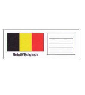 6 x KOBRA FEL-LAND-B Länderschildchen mit farbiger Flagge Belgien - Belgie - Belgique Für die Münzblätter FE24 oder zum gestallten von Vordruckblättern - Vorschau 1