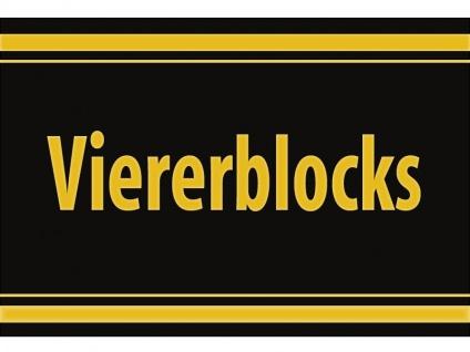 "1 x SAFE 1130 SIGNETTE Aufkleber selbstklebend "" Viererblocks """