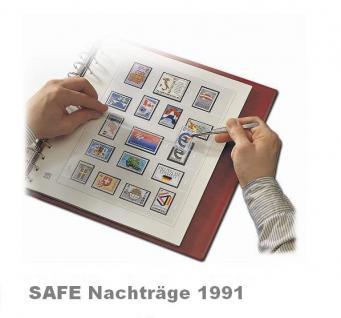 SAFE 1691 dual Nachträge - Nachtrag / Vordrucke Deutschland Jahresschmuckblätter - 1991