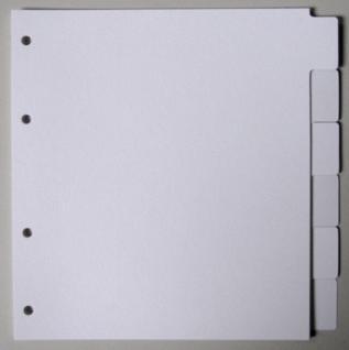 1 x KOBRA G16R Registerkartern Set 6er Pack weiß Für Ringbinder G15 G17 G18 G19B G30 G172 G182