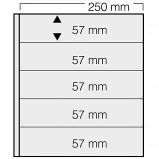 5 x SAFE 825 Einsteckblätter GARANT glasklar & transparent 5 Taschen 250 x 57 mm Für Briefmarken Banknoten Briefe Sammelobjekte