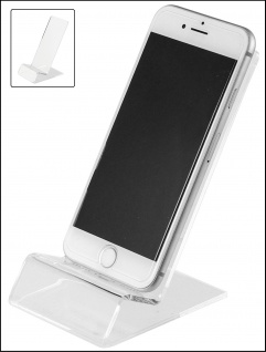 SAFE 73705 + 3143 SET Acryl Design Schreibgeräte Organizer Stiftehalter + Telefon Handy Ständer - Vorschau 3
