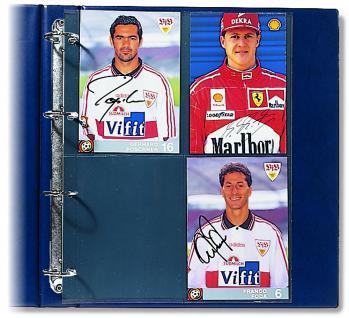 5 x SAFE 5470 Compact A4 Ergänzungsblätter Hüllen A4 Bilder 10 x 15 cm - Autogrammkarten
