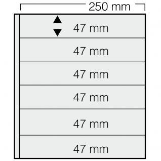 5 x SAFE 726 Einsteckblätter GARANT Weiss beidseitig nutzbar 6 Taschen 250 x 47 mm Für Briefmarken Briefe Sammelobjekte