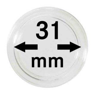 100 LINDNER Münzkapseln / Münzenkapseln Capsules Caps 31 mm für 2251031
