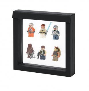 LINDNER 4838 NIMBUS 150 Schwarz Sammelrahmen Schweberahmen 3D 150x150x25 mm Für Lego Mini Figuren Star Wars