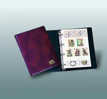 SAFE 550 Taschen-Einsteckbuch Ringbinder Weinrot DIN A6 mit 5 weissen Seiten