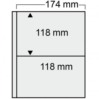 10 SAFE 7878 Compact Ergänzungsblätter Hüllen 2 Taschen 174 x 118 mm + schwarzen ZWL Für Banknoten & Briefe