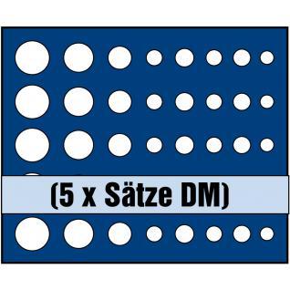 1 x SAFE 6344 SP Tableaus / Einsätze SMART 5 komplette DM Kursmünzensätze KMS 1, 2, 5, 10, 50 Pfennig - 1, 2, 5 DM