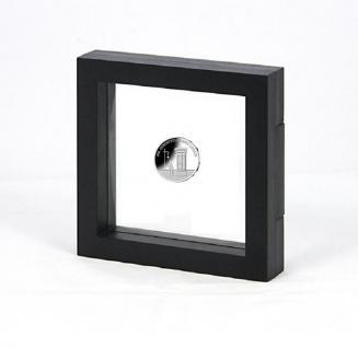 LINDNER 4836S NIMBUS ECO Schwarz Sammelrahmen Schweberahmen 3D 100x100x25 mm Für Münzen & Medaillen
