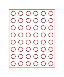 LINDNER 2949E Velourseinlagen Dunkelrot für Münzbox Münzboxen Kassetten Münzkoffer - Vorschau 1
